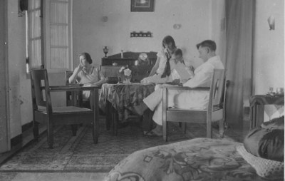 A peaceful Sunday afternoon at the Brouwer home in the Dutch East Indies.