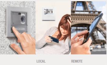 Màn hình trong căn hộ giúp chủ nhà xem hình ảnh khách, đàm thoại với khách và mở cửa để khách vào
