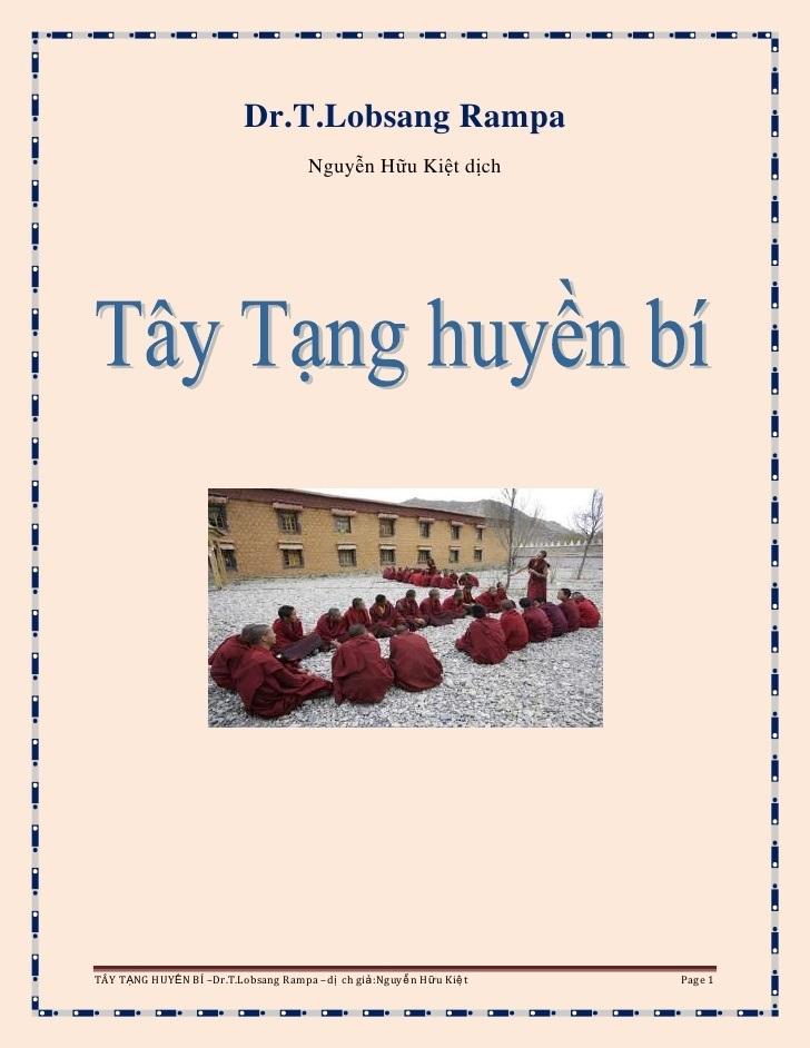 Tây Tạng Huyền Bí - Lobsang Rampa - Nguyễn Hữu Kiệt dịch