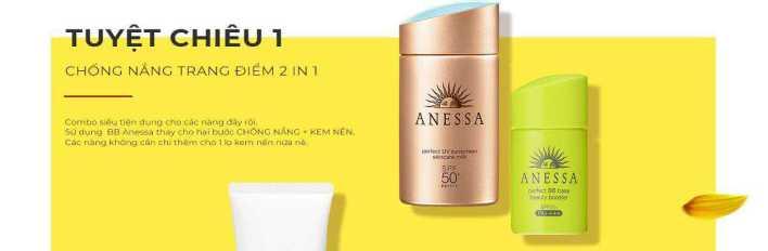 Sữa chống nắng sử dụng công nghệ chống trôi độc quyền Aqua Booster EX của Anessa.