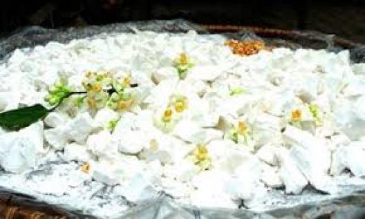 Cách làm bột sắn dây ướp hương hoa bưởi