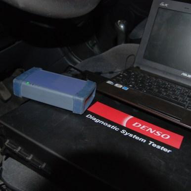 Valise DST-PC Denso. Test de tous les équipements des systèmes moteurs et injection Denso