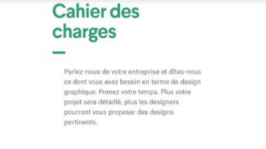 CaCahier des charges 99 designs