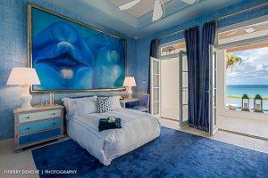 Cerulean blue color