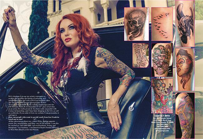 Lea Vendetta into Slinders Magazine