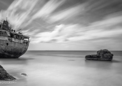 Long exposure photography black and white photo