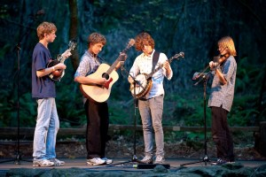 The band performs for the Old Grove Festival at the amphitheater in Armstrong Woods, Guerneville