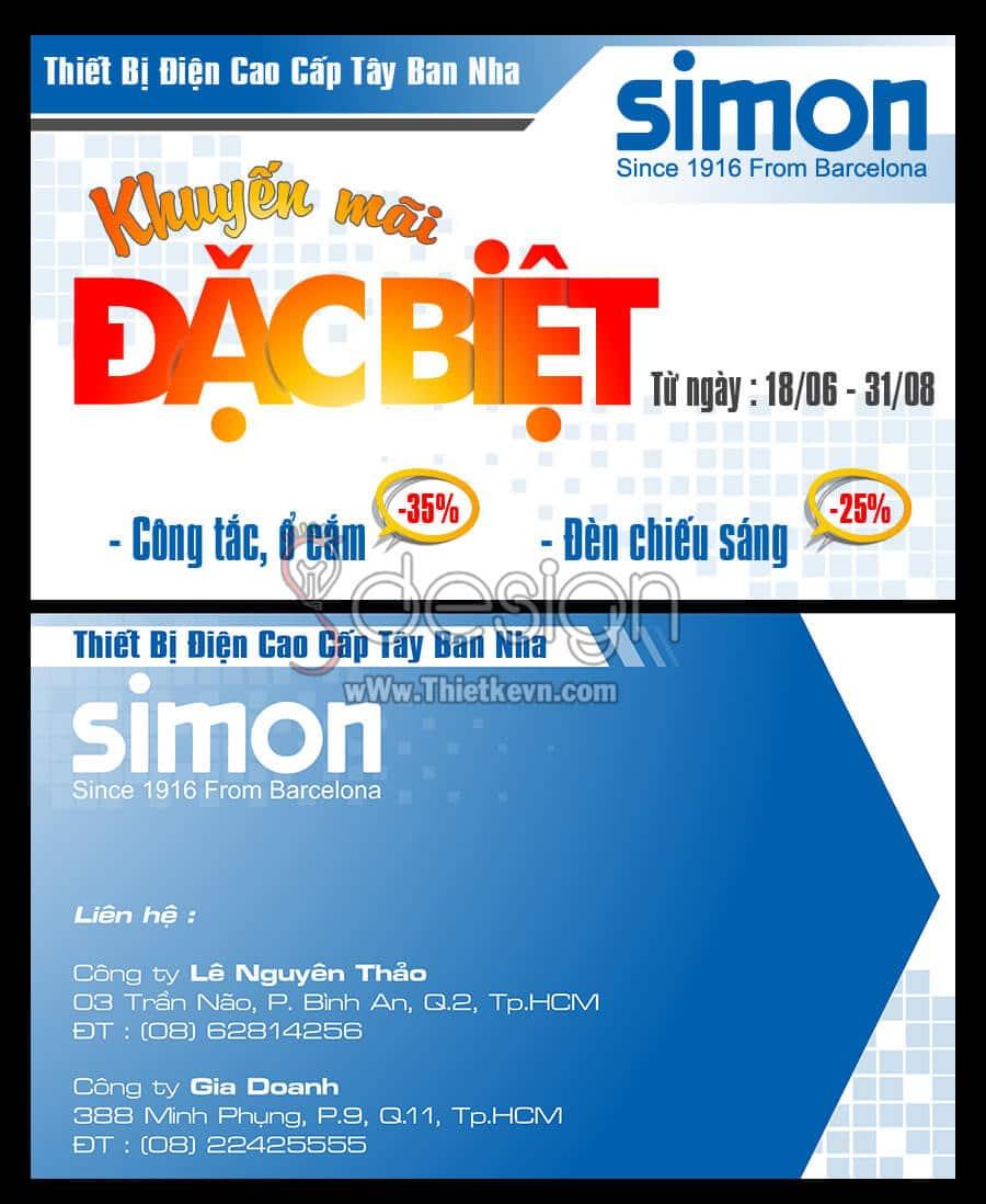 Thiết kế card đi show Công ty Simon