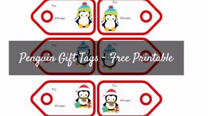 Free Penguin Gift Tags Printable