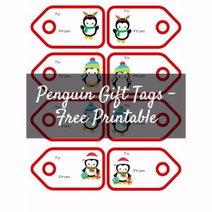 Penguins Gift Tags