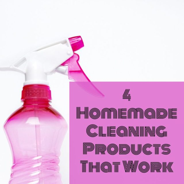 4 Homemade Cleaning Products That Work