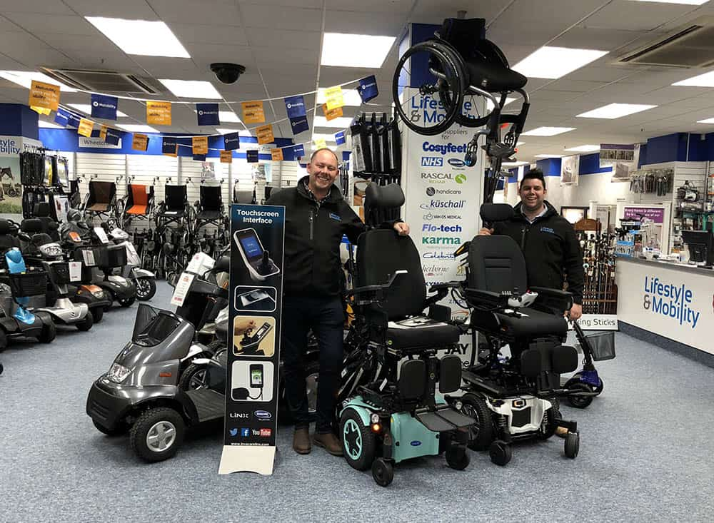 Lifestyle and Mobility Aaron and Darren in store