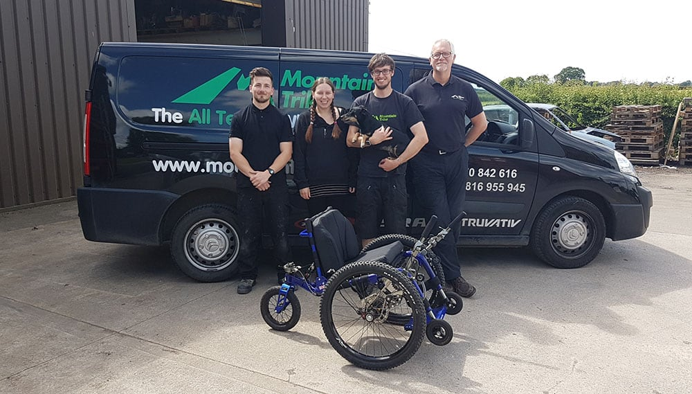 The Mountain Trike team in Cheshire