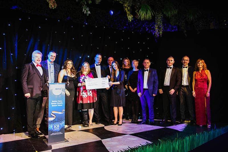 BHTA Awards Stroke Association awarded cheque