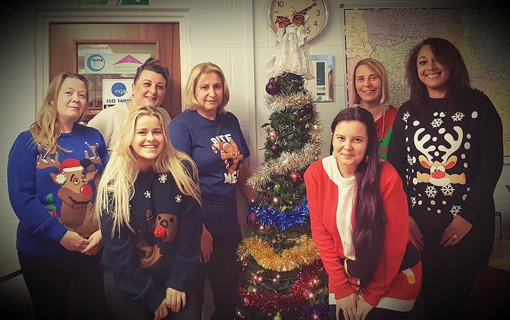 Caretech team Christmas Jumper Save the Children