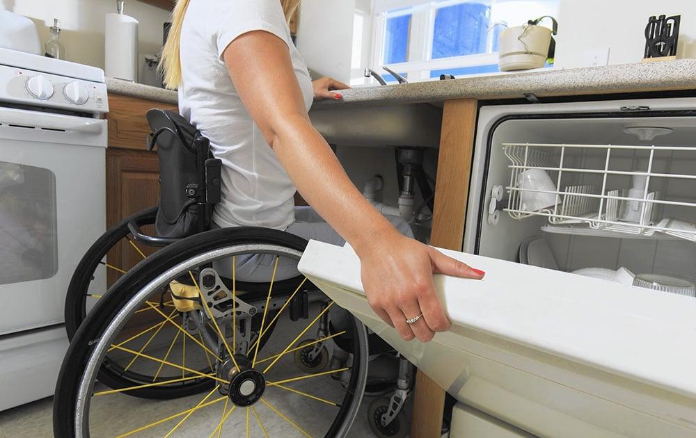 Accessible housing kitchen wheelchair