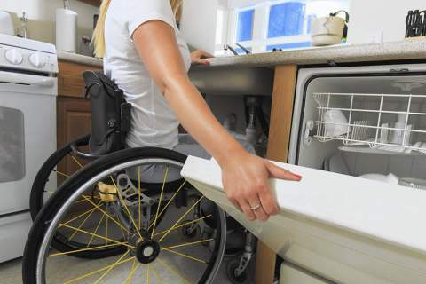 Accessible housing kitchen wheelchair