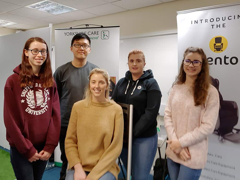 Sheffield Hallam University students being trained by Yorkshire Care Equipment image