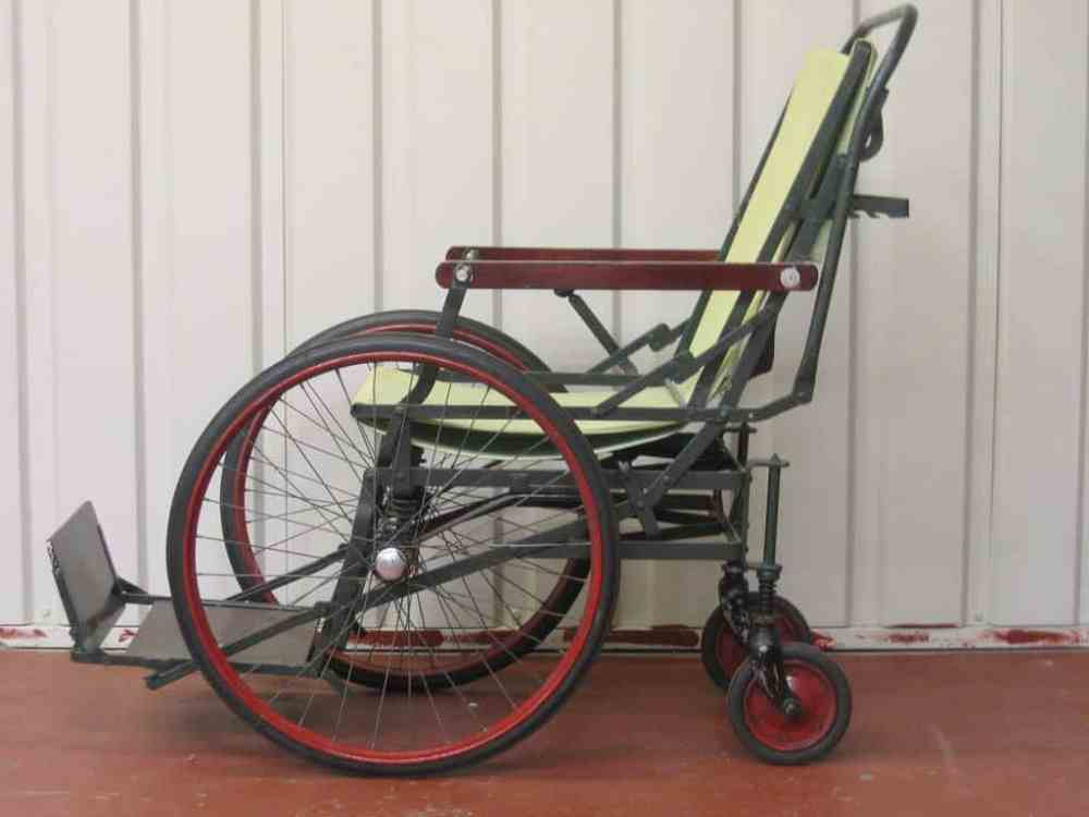 Old wheelchair made from metal