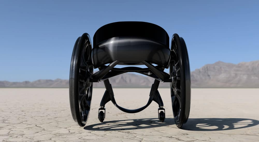 Phoenix instinct wheelchair carbon-fibre from behind