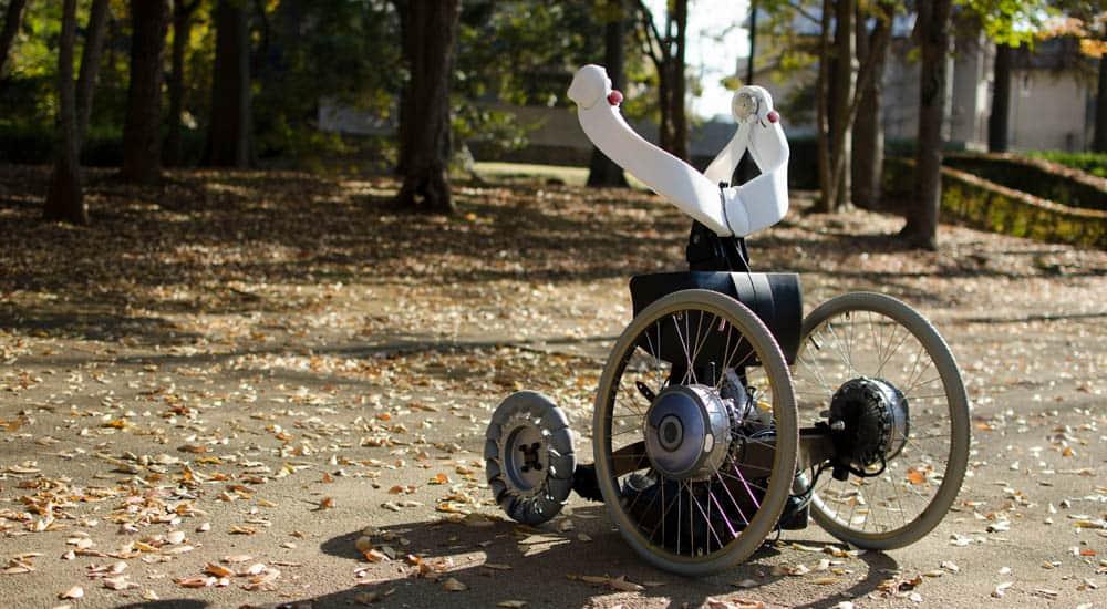 QOLO exoskeleton outdoors