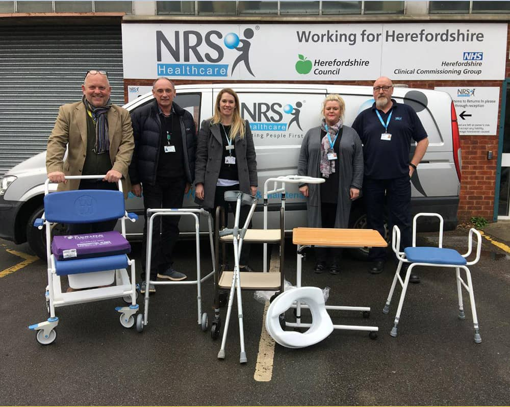 NRS Healthcare joins Herefordshire Council and Wye Valley NHS Trust to encourage patients to return unwanted equipment image