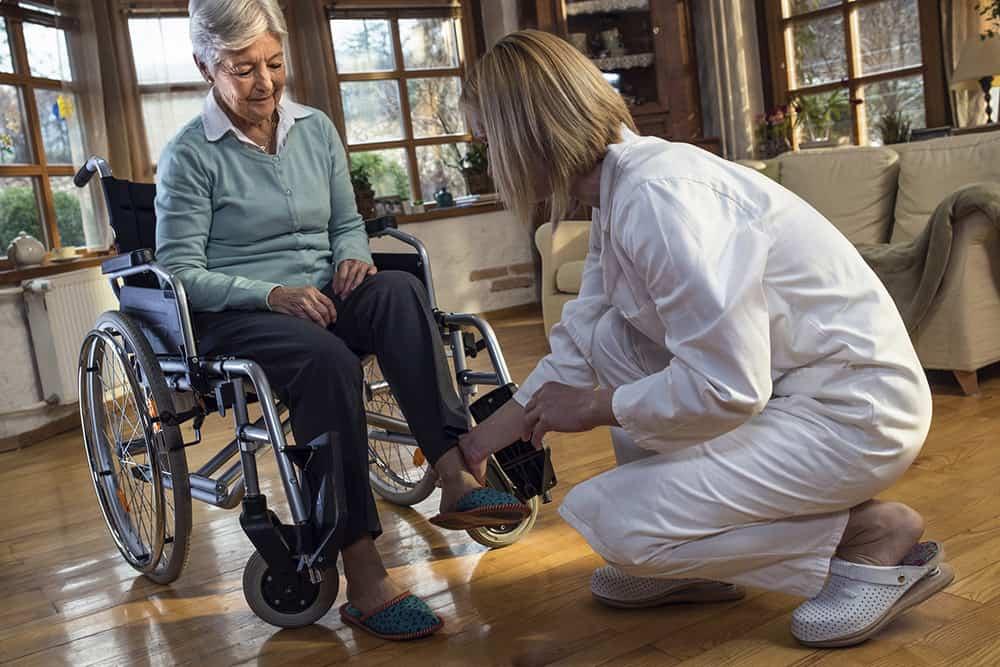 Nurse with wheelchair user image