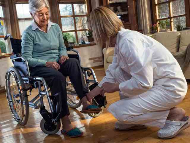 Nurse with wheelchair user image