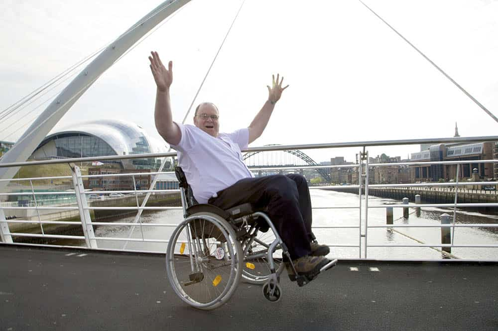 International Wheelchair Day founder Steve Wilkinson on bridge
