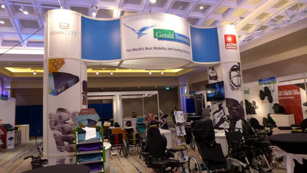 Gerald Simonds Healthcare stand at trade show
