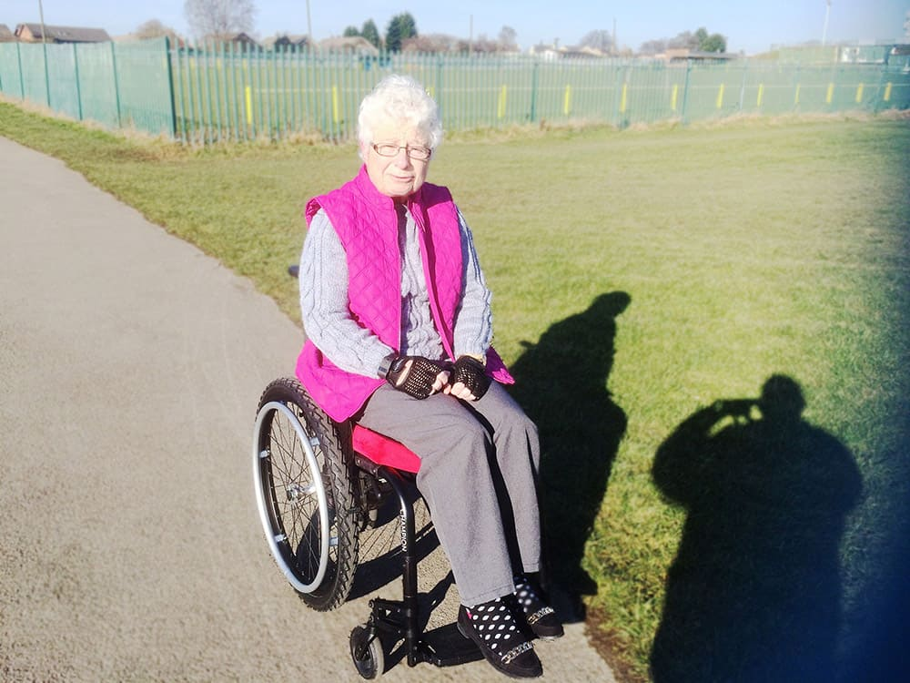 Yorkshire Care Equipment helps Carole find a suitable wheelchair image