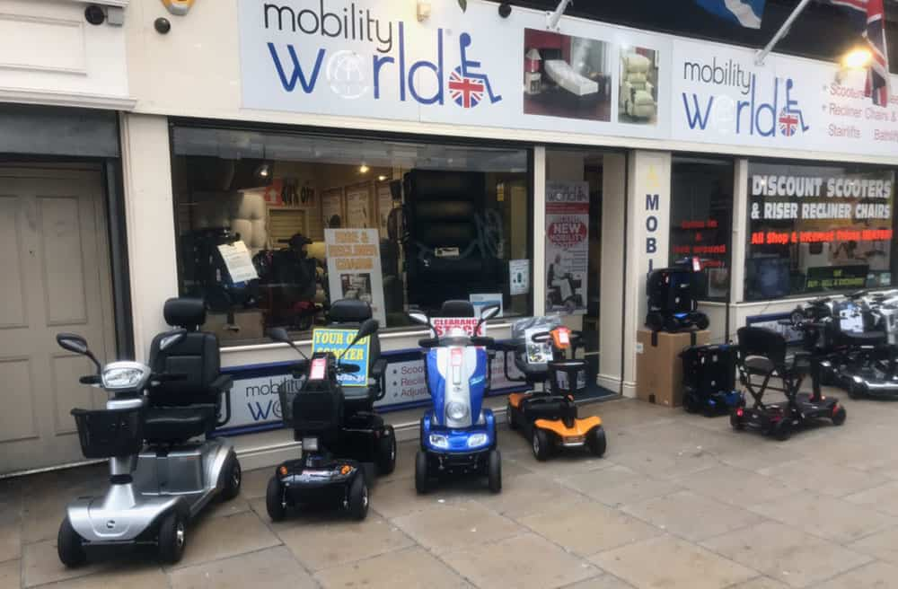Southport Mobility shop Mobility World's shop front