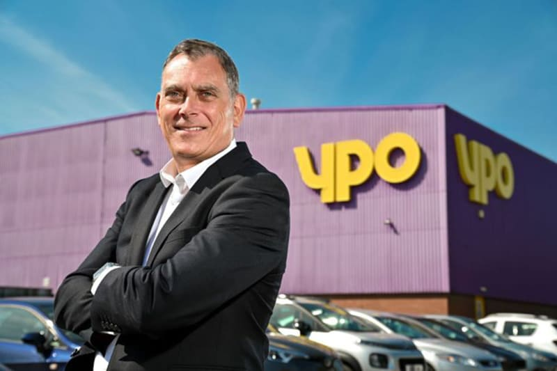 YPO's Managing Director Simon Hill outside factory in Wakefield