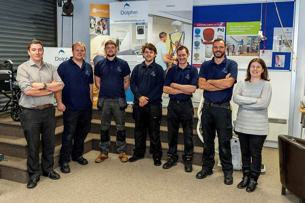 The Dolphin Mobility Yorkshire and Cumbria team