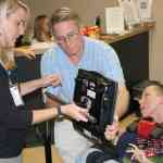 AT wheelchair assessment of child in wheelchair