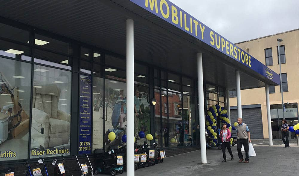 Ableworld Stafford Shop front at launch