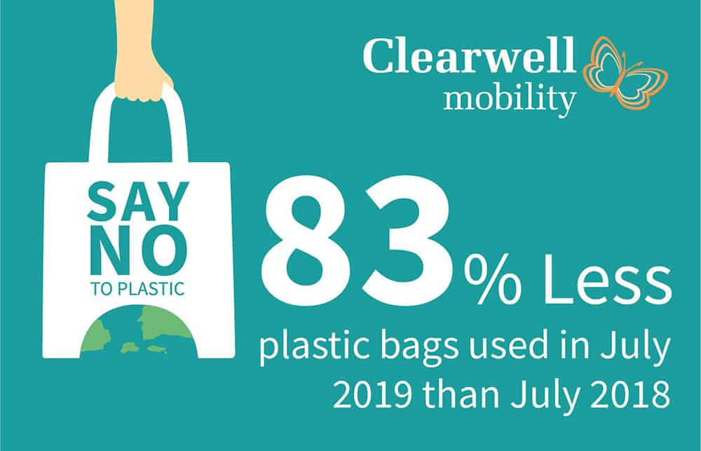 clearwell mobility plastic bag reduction