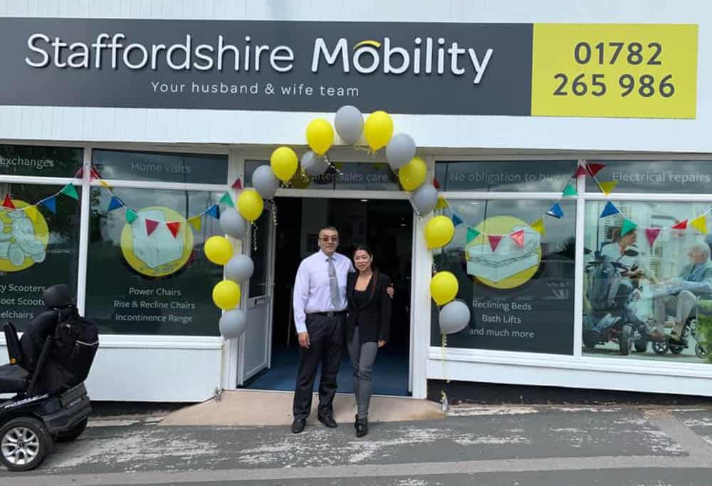 Staffordshire Mobility new store with Jimmy and Yanny Lee