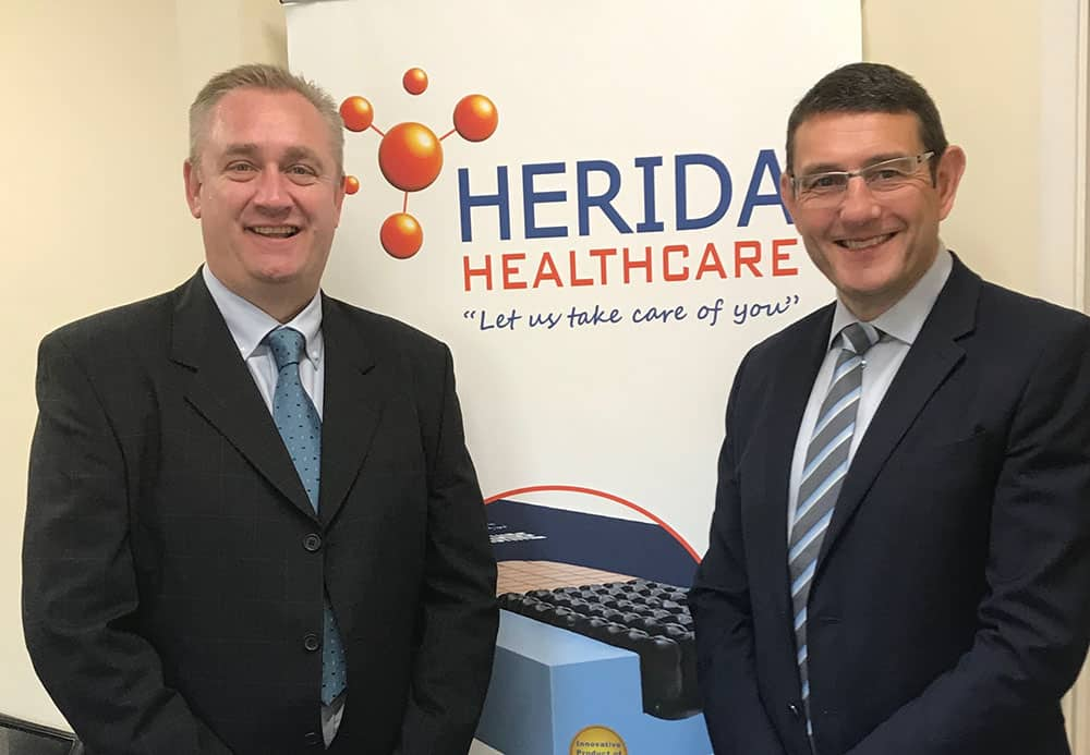 Herida Healthcare Dave Emmerson (Head of Ops) and – on right - John Bentley (MD)