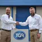 Scott Brooker, TGA Business Development Manager for the North, is welcomed to TGA by Tim Ross, National Sales Manager.
