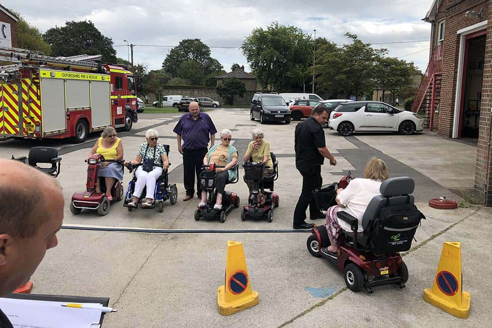 Pride Mobility scooter sategy group course in Bicester with Shire Mobility