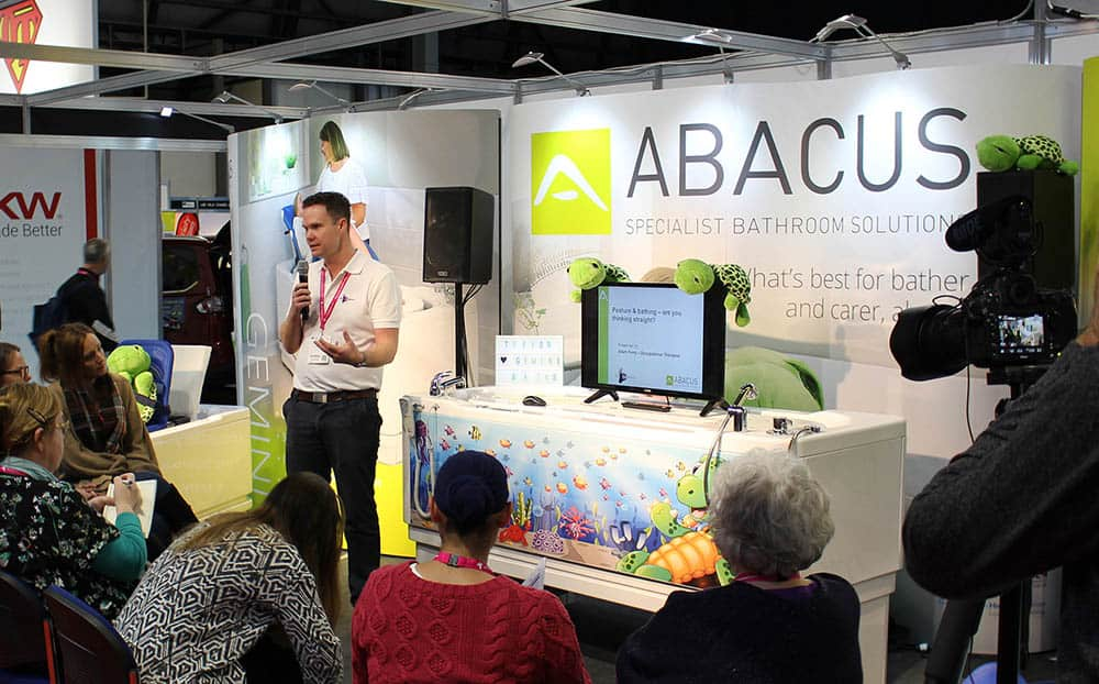 Abacus Bathing Adam Ferry delivering CPD seminar