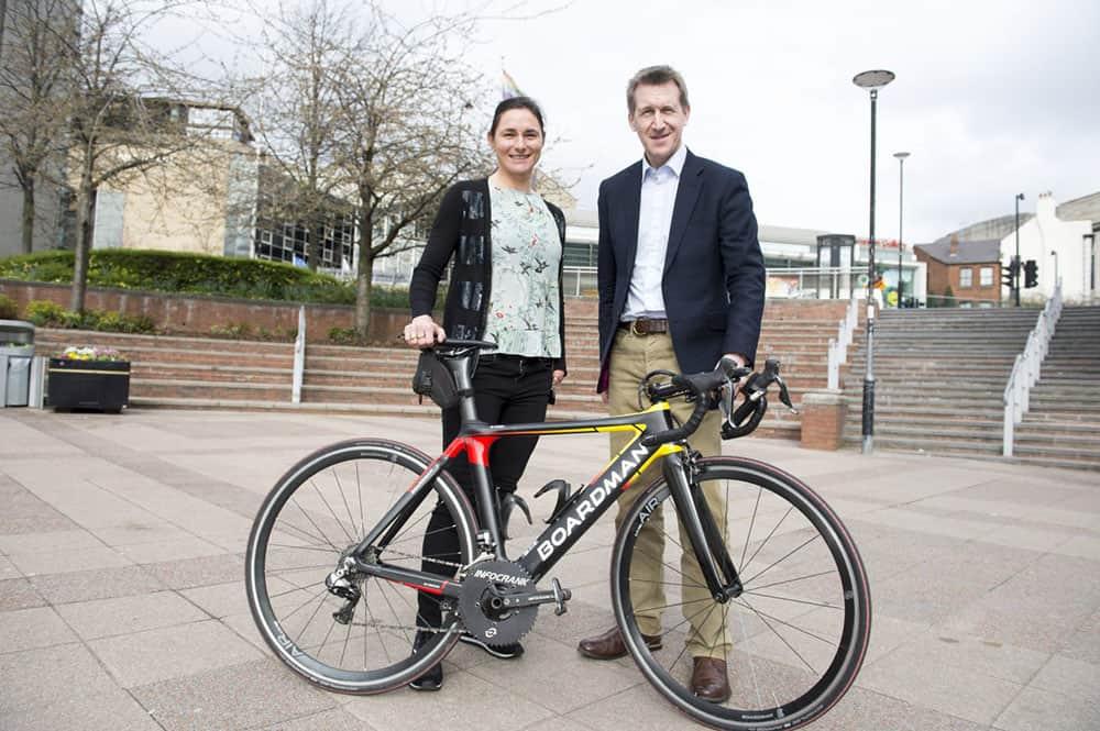 Dame Sarah Storey and Sheffield City Region Mayor Dan Jarvis