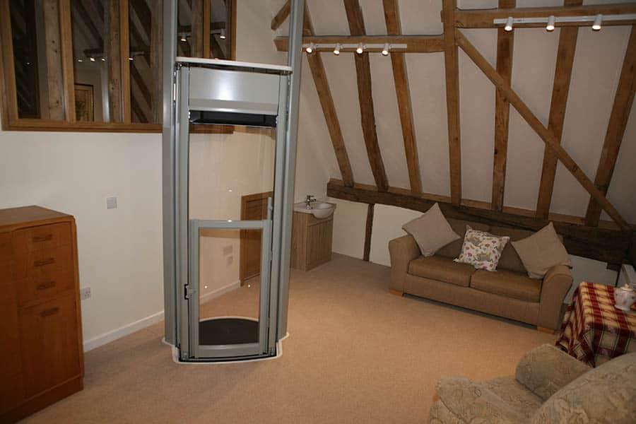 Rehability new barn suffolk indpendent living centre through floor lift