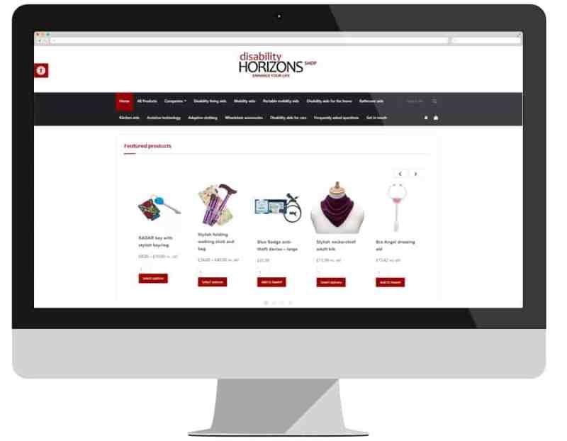 Disability Horizons web shop