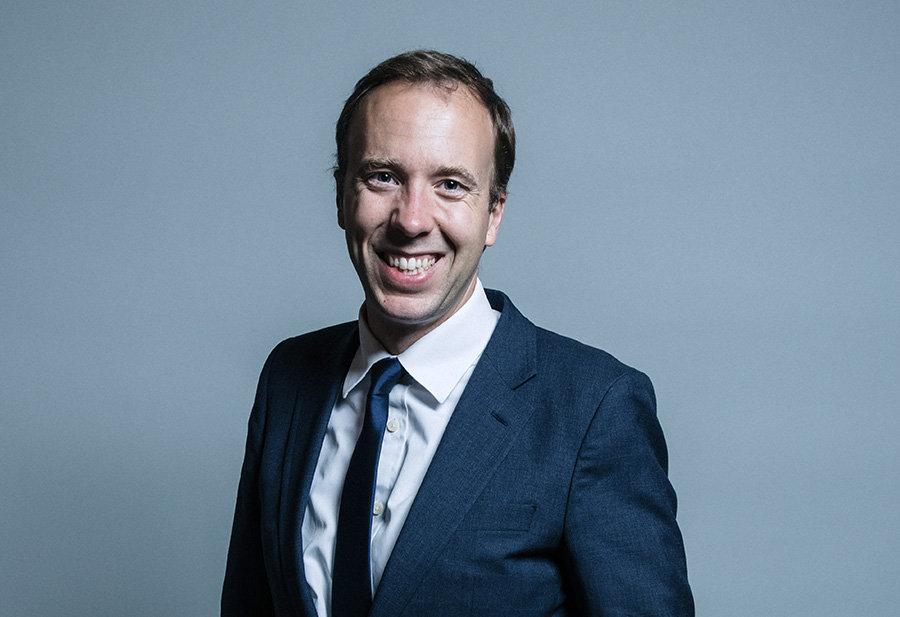 Matt Hancock Health and Social Care Secretary