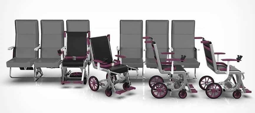 Row 1 Airport Wheelchair System one