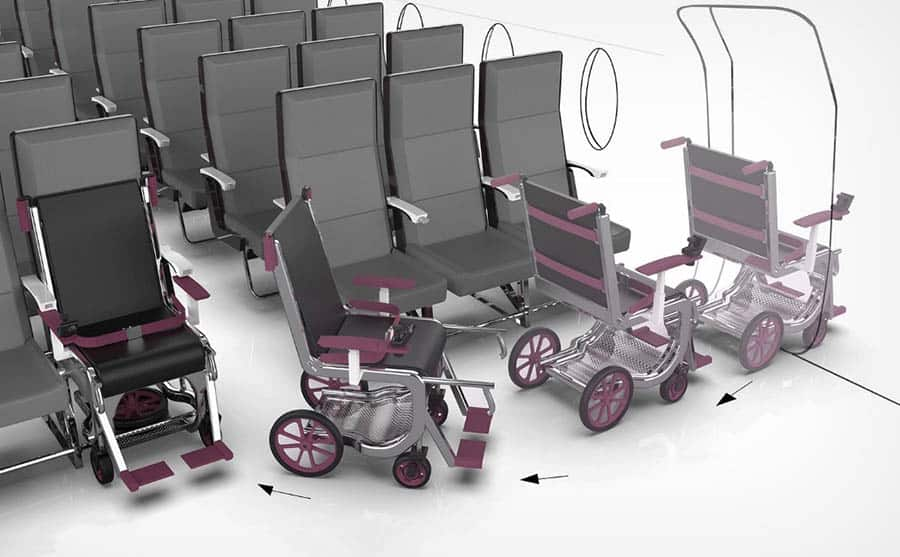 Row 1 Airport Wheelchair System three