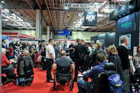 Naidex 2019 busy stands and aisles
