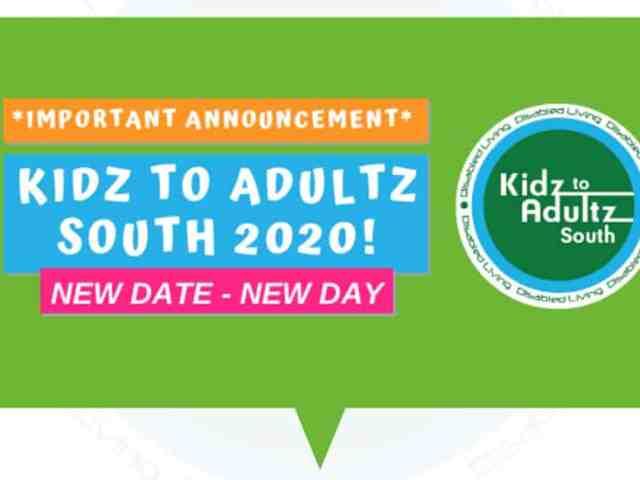 Kidz to Adultz Event Change